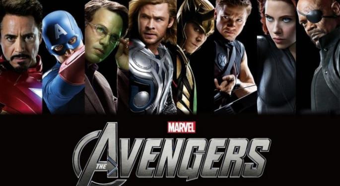 Disney Trades Up on The Avengers Profit
