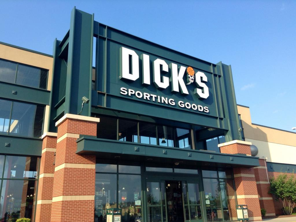 Highlights for Dick's Sporting Goods. Sports take you beyond humdrum day-to-day life. From the kickoff to the final whistle, it's the game that matters. For an athletic selection that knows no bounds, Dick's Sporting Goods fits the ticket. At first, only fishing and camping supplies .
