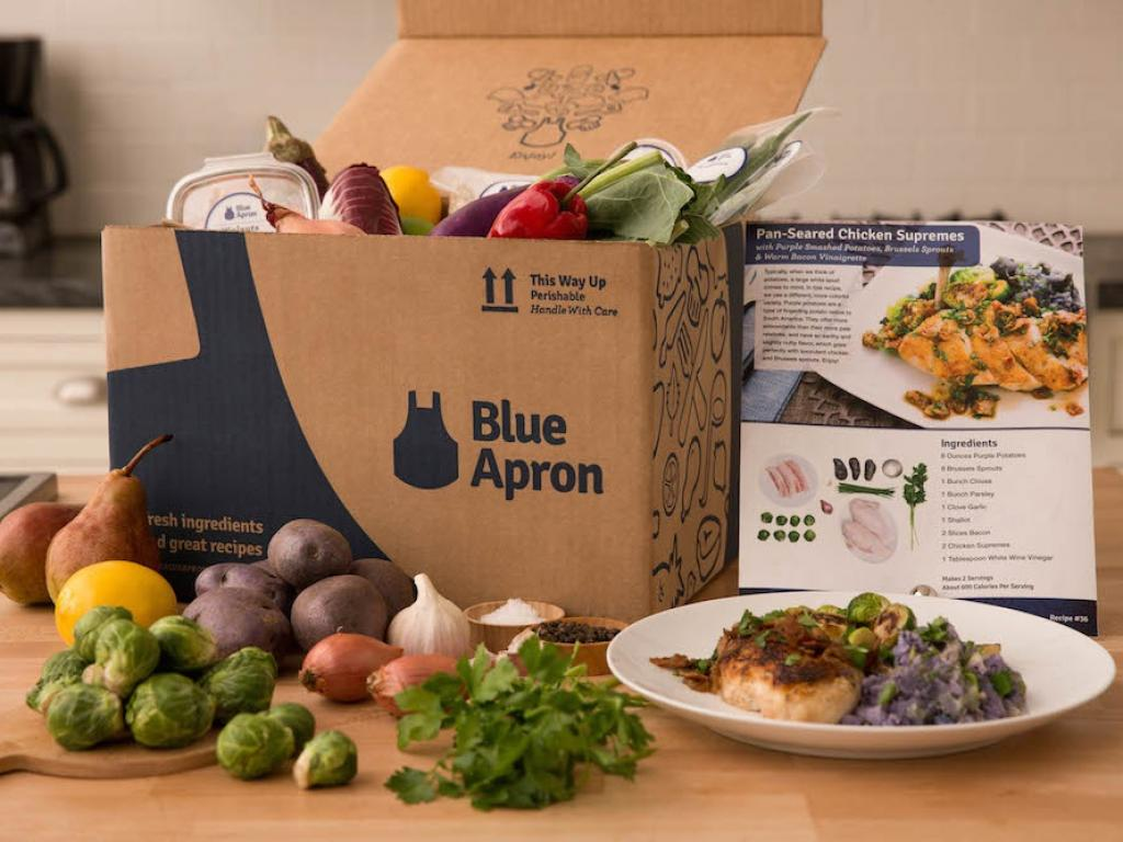 Blue Apron shares tumble after Amazon files for meal-kit trademark