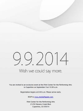 iPhone 6 Event Confirmed For September 9