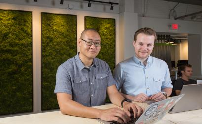 Duo Security CEO and cofounder Dug Song, left, with CTO and cofounder Jon Oberhe