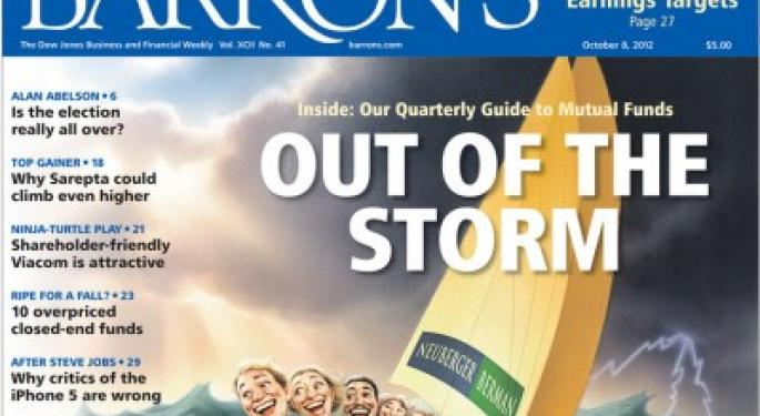 Barron's Recap 10/6/12: Out of the Storm