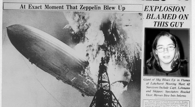"""Dreaded """"Hindenburg Omen"""" Registered Yesterday"""