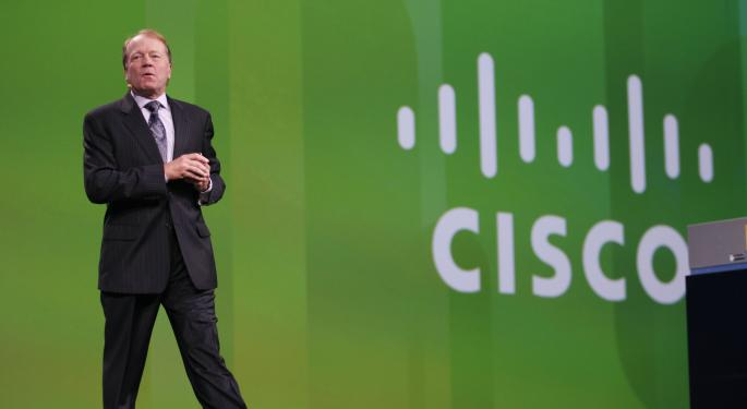 Cisco Falls Despite Q2 Beat, Increased Dividend