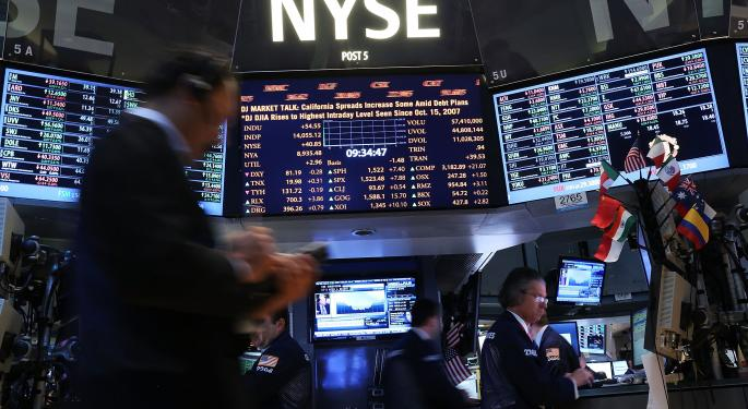 Mid-Morning Market Update: Markets Edge Lower; Apple Sells 9M New iPhones In First Weekend