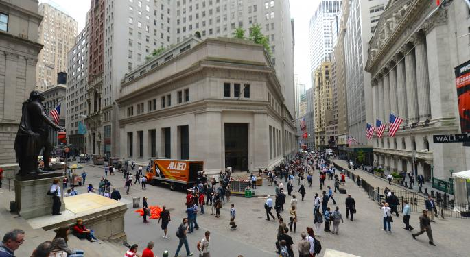 Mid-Morning Market Update: Markets Drop; H&R Block Posts Higher Profit