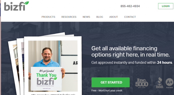 Bizfi: Fintech Delivering Funding Options For Small Business