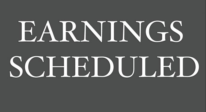 Earnings Scheduled For November 30, 2012