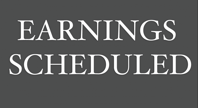 Earnings Scheduled For January 30, 2014