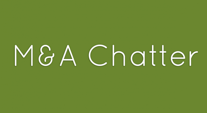 Benzinga's M&A Chatter for Monday August 26, 2013
