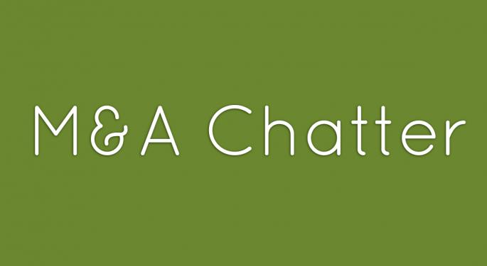 Benzinga's M&A Chatter for Thursday October 24, 2013
