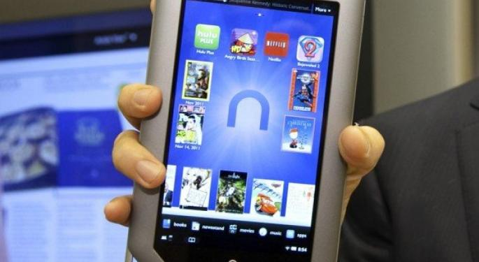 Barnes & Noble Lowers Price on NOOK Tablet to $159