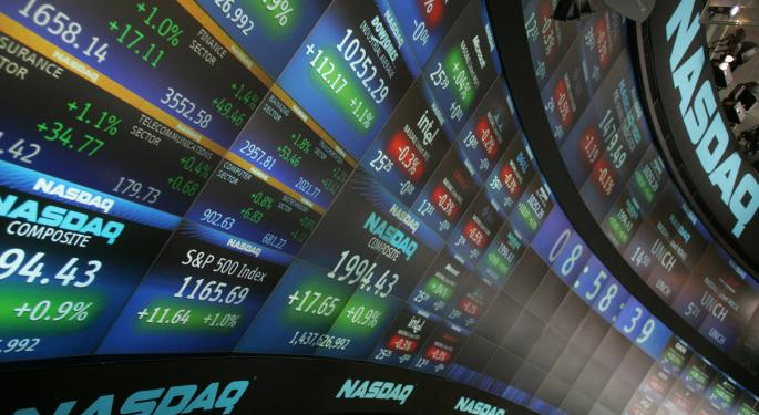 Mid-Morning Market Update: Markets Mostly Lower; Texas Instruments Narrows Q3 Forecast