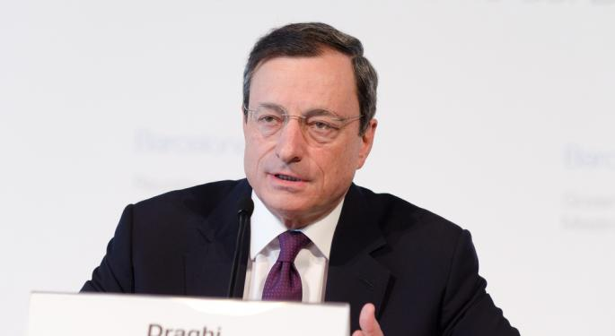 Draghi Downplays Currency Wars
