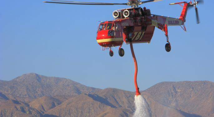 UPDATE: Watch Shares of Erickson Air-Crane Over California Fire EAC