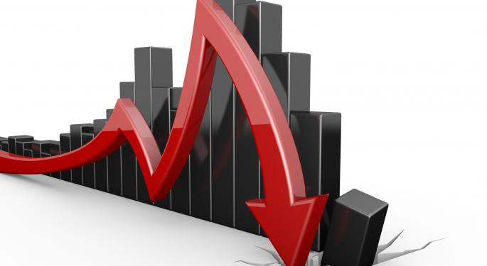 Mid-Morning Market Update: Markets Drop; Pfizer Posts Lower Revenue
