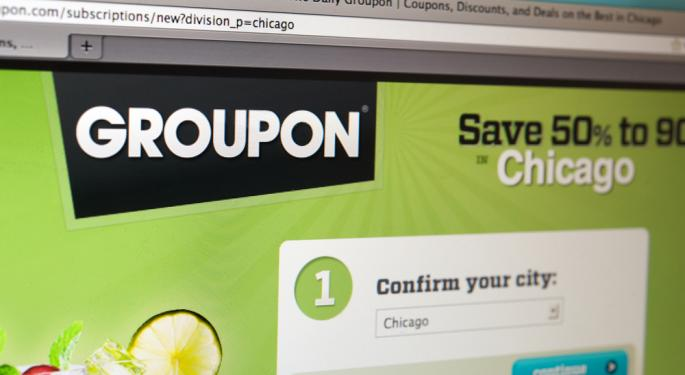 UPDATE: Groupon Up Over 6 Percent on Sterne Agee Upgrade