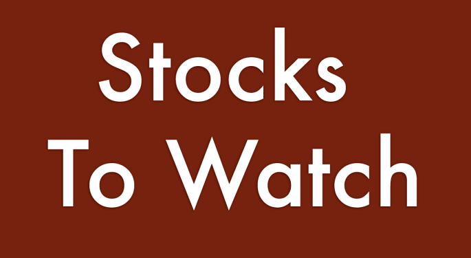Stocks To Watch For November 4, 2013