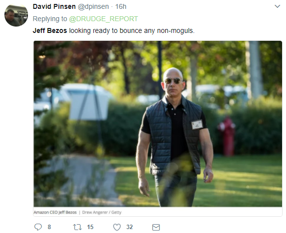 finally one tweeter suggested there as a simple explanation for bezos unconventional appearance at the conference